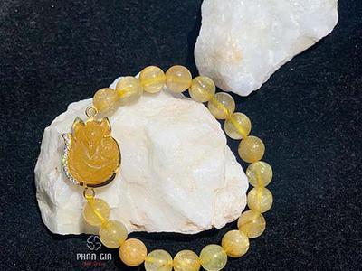 Vòng tay Thạch Anh Tóc Vàng Mix Hồ Ly Tại...