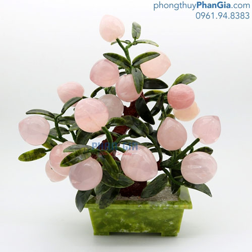 Cây Đào Thạch Anh Hồng