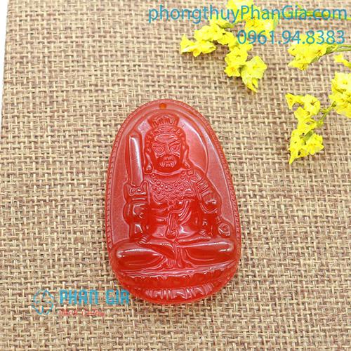 Mặt Phật Bất Động Minh Vương Mã Não Đỏ