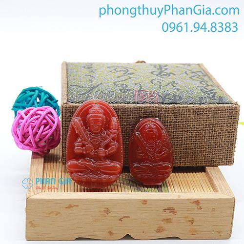 Phật Bản Mệnh Hư Không Tạng Bồ Tát Mã Não Đỏ Dành Cho Tuổi Sửu,Dần