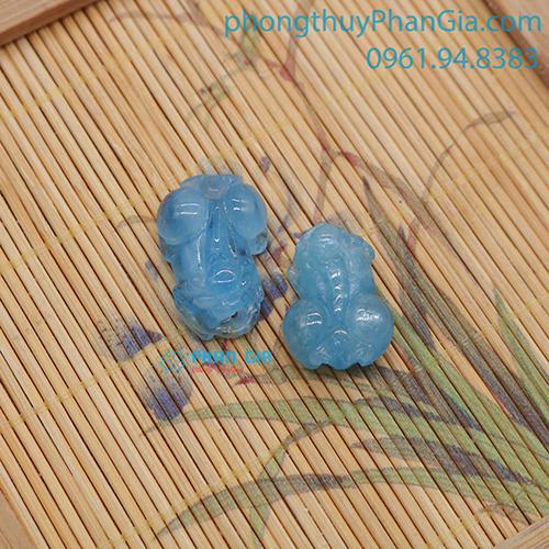 Mặt Tỳ Hưu Aquamarine