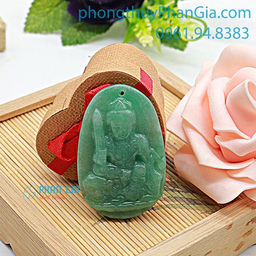 Phật Bản Mệnh Văn Thù Bồ Tát Đá Thạch Anh Xanh Dành Cho Tuổi Mão