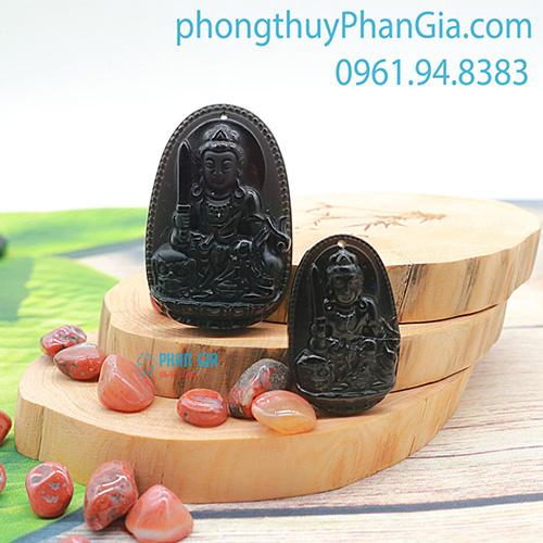 PBM Văn Thù Bồ Tát đá Obsidian