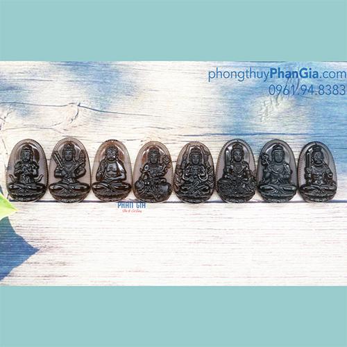 Mặt Phật Bản Mệnh Đá Obsidian