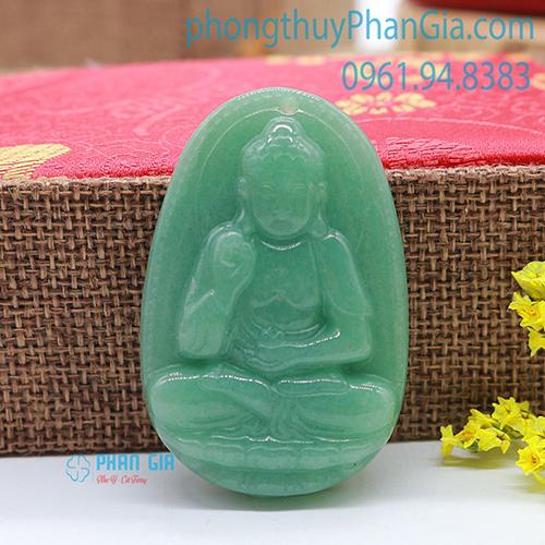 Mặt Phật A Di Đà Thạch Anh Xanh