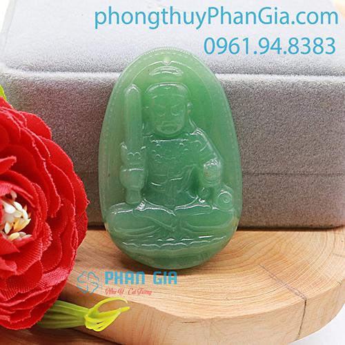 Mặt Phật Bất Động Minh Vương Đá Thạch Anh Xanh