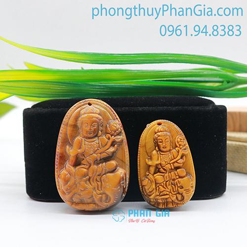 Mặt Phật Phổ Hiền Bồ Tát Mắt Hổ Nâu
