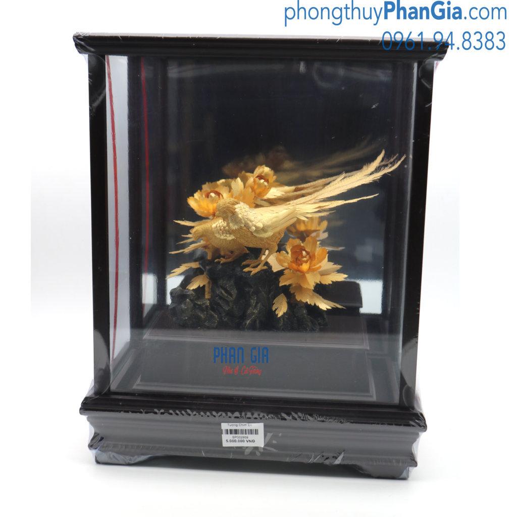 Tượng Chim Én Mạ Vàng 24k