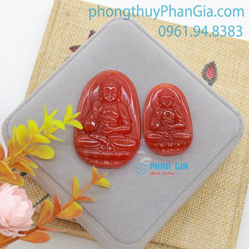 Mặt Phật A Di Đà Mã Não Đỏ