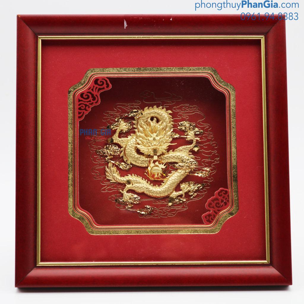 Tranh Rồng Mạ Vàng 24k