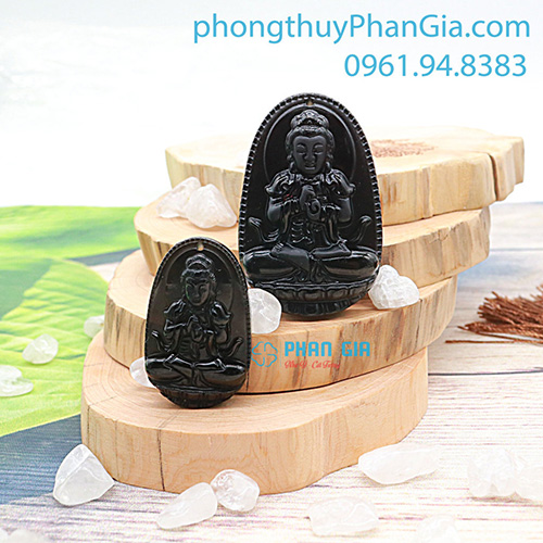 Phật Bản Mệnh Như Lai Đại Nhật Đá Obsidian Dành Cho Tuổi Mùi, Thân