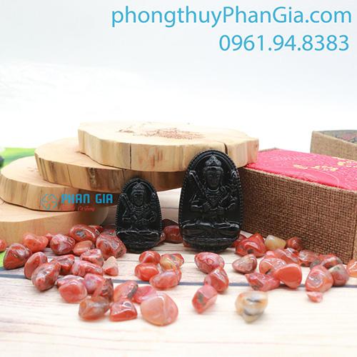 Phật bản mệnh Hư Không Tạng Bồ Tát Đá Obsidian Dành Cho tuổi Sửu, Dần