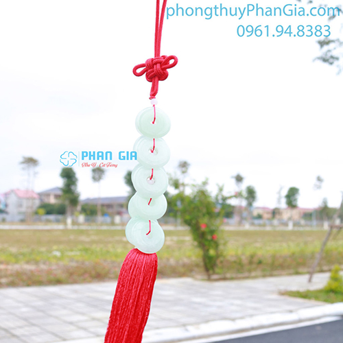Treo Xe Đồng Tiền Ngọc