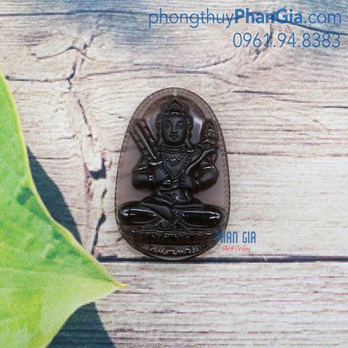 Mặt Phật Hư Không Tạng Bồ Tát Obsidian