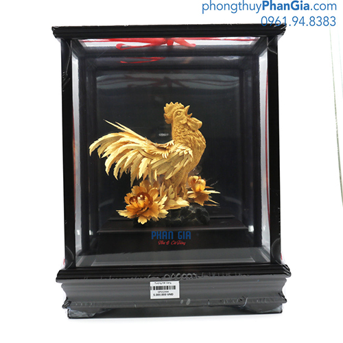 Tượng Kê Mạ Vàng 24k