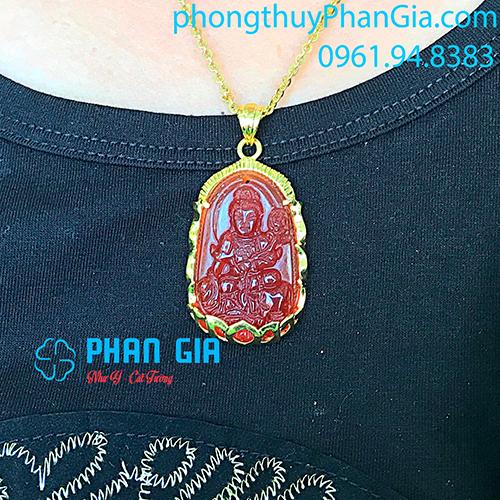 Phật Bản Mệnh Phổ Hiền Bồ Tát Mã Não Đỏ Dành Cho Người Tuổi Thìn,Tỵ