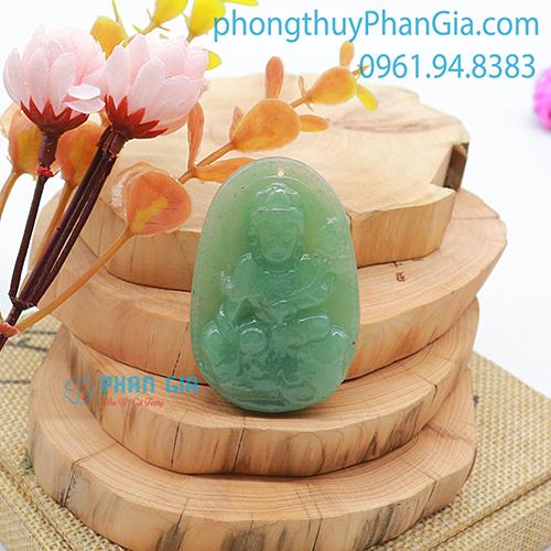 Mặt Phật Phổ Hiền Bồ Tát Thạch Anh Xanh