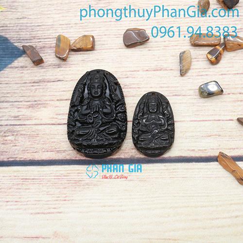 Phật Bản Mệnh Thiên Thủ Thiên Nhãn Đá Obsidian Dành Cho Tuổi Tý