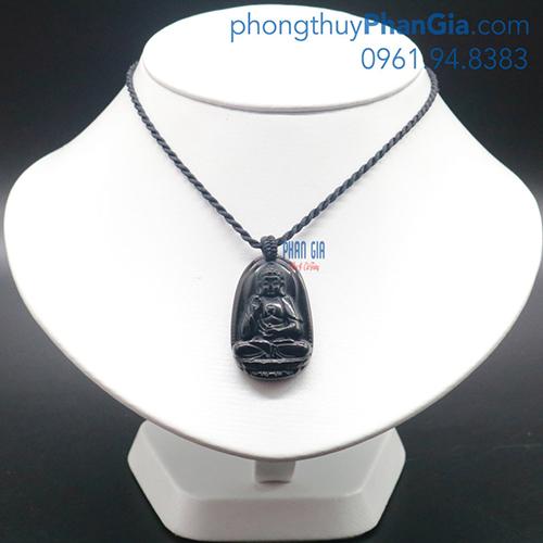 Phật Bản Mệnh A Di Đà Bồ Tát Đá Obsidian Dành Cho Tuổi Tuất,Hợi